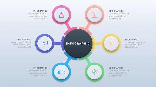 Clean colorful infographic with options