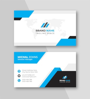 青い色のきれいな会社の名刺