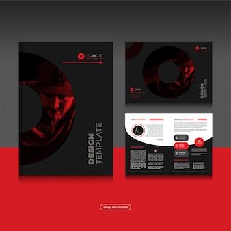 Чистый корпоративный складной деловой шаблон дизайна брошюры в формате a4.