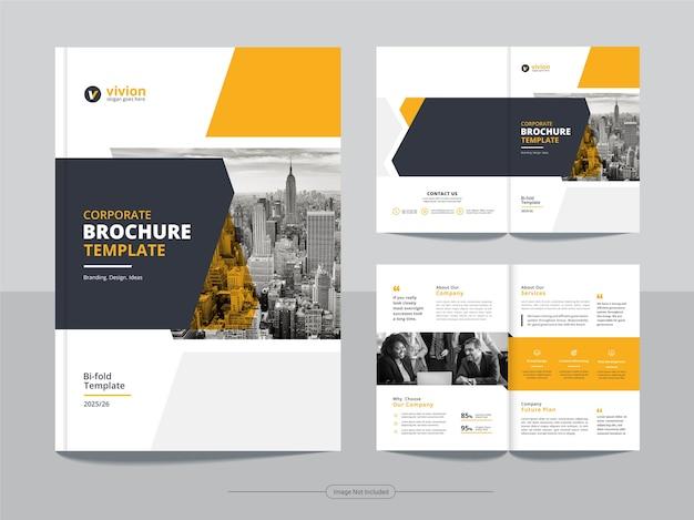 Чистый корпоративный двойной бизнес шаблон дизайна брошюры