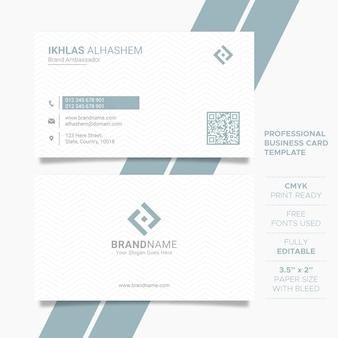 깨끗 한 기업 비즈니스 카드 템플릿