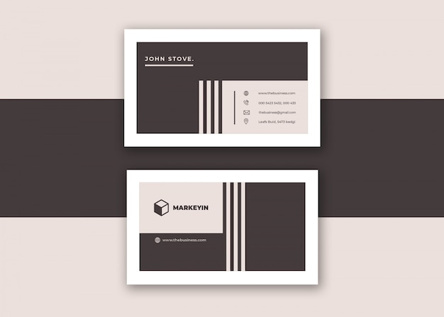 Clean corporate creative colorful minimal business card vector design