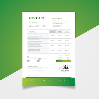 Clean and  creative invoice template