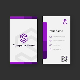 Clean and creative violet business card