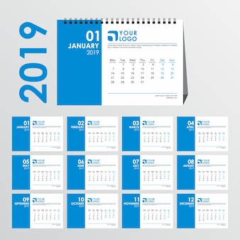 Clean desk calendar template
