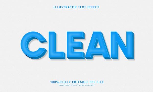 Чистый редактируемый текстовый эффект