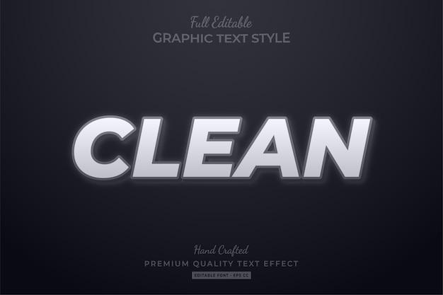 Clean editable text style effect premium