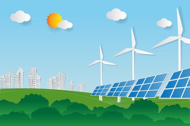 재생 가능한 에너지 원으로부터 전기 에너지를 청소하십시오.