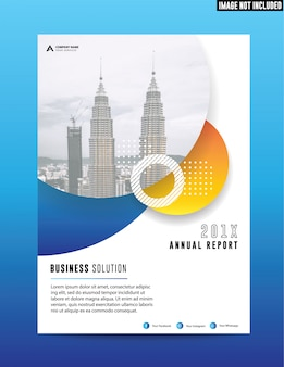 Clean flat corporate business annual report