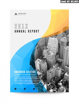 Clean flat corporate business brochure flyer annual report