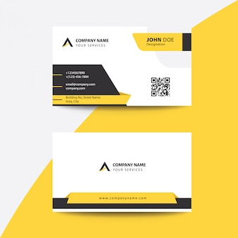 Clean flat premium minimal style corporate business visiting card
