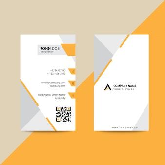 Clean Flat Premium Minimal Style Orange Brown Corporate Business Visiting Card