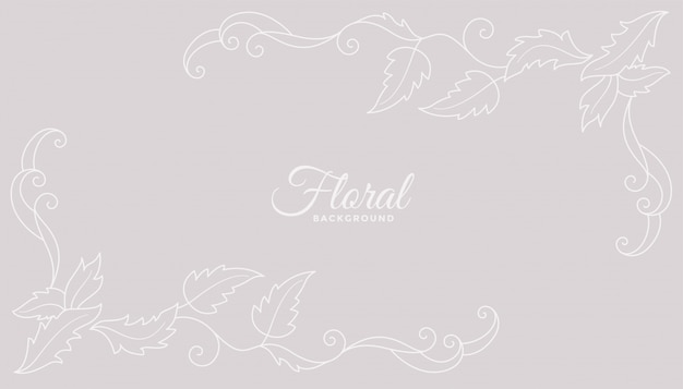 Clean floral background design with soft colors