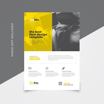 Clean flyer template with yellow accent