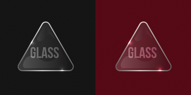 Clean and glossy transparent vector glass shiny frame mockup