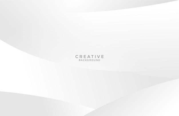 Чистый серый белый фон кривой волнистый минималистский дизайн