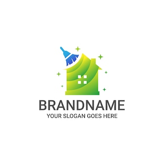 Clean house logo template