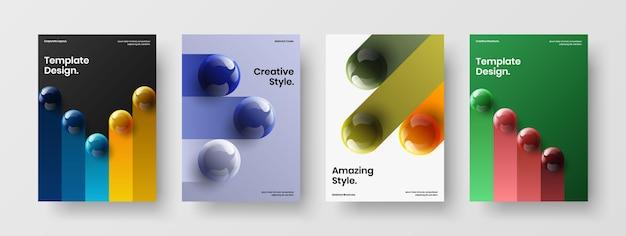 깨끗한 잡지 표지 벡터 디자인 컨셉 구성