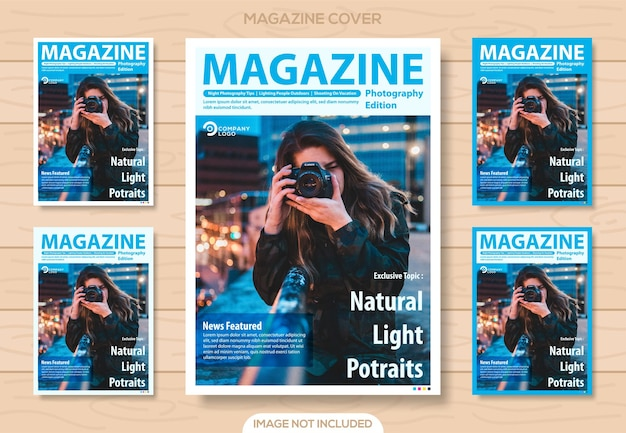 Clean magazine photography design template