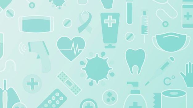 Clean medical patterned background vector