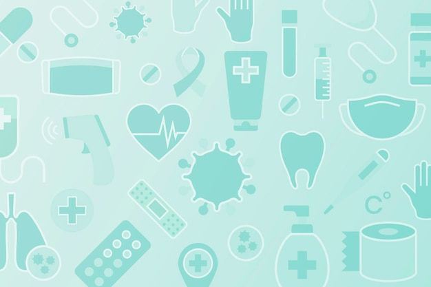 Clean medical patterned background