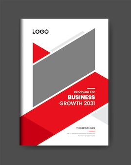 Clean minimal business brochure cover page design template modern red color design theme