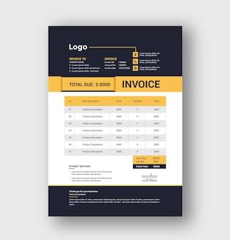 Чистый минимальный дизайн шаблона бизнес-счета