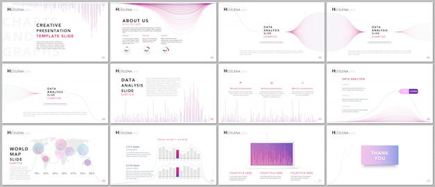 Clean and minimal presentation templates. business infographic. brochure cover vector design. presentation slides