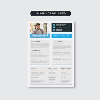 Clean minimalist resume