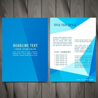 きれいな現代のビジネスパンフレットリーフレットデザイン