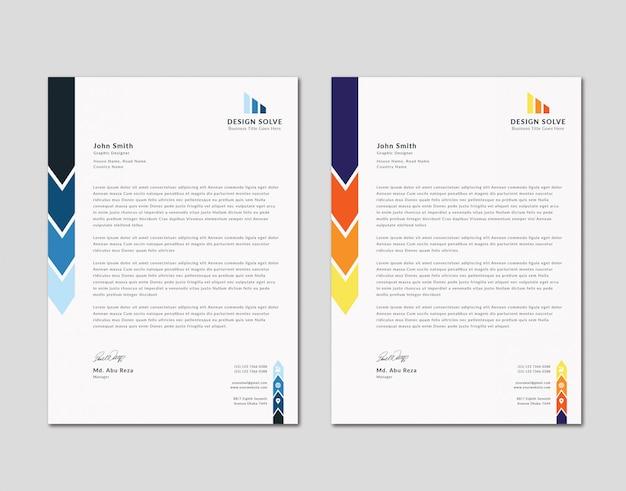 Clean modern business letterhead