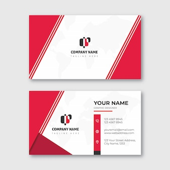 Clean modern corporate business card template
