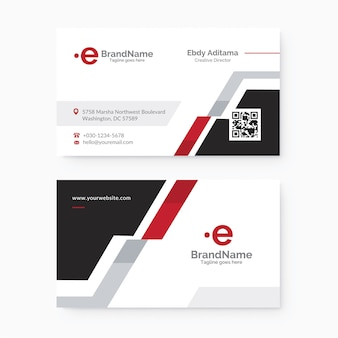 Clean and modern corporate  business card template