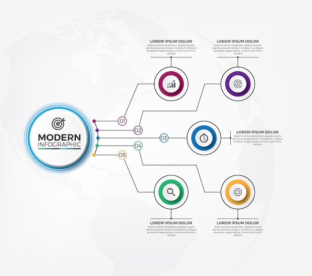 Clean and modern infographic design template