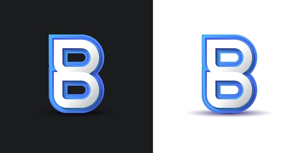 Clean and modern letter b logo design in white and blue. graphic alphabet symbol for corporate business identity