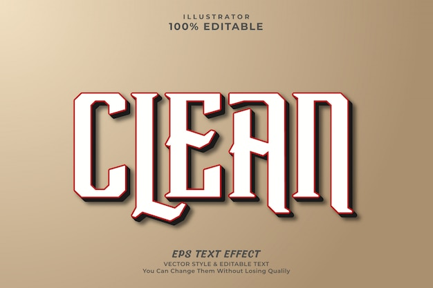 Clean modern text effect style,