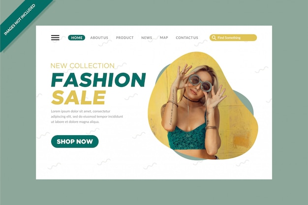 Clean new collection fashion sale landing pages
