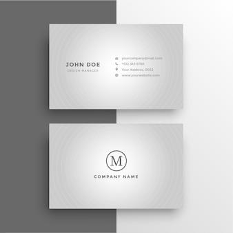 Чистый узор белый градиент визитная карточка бесплатные векторы