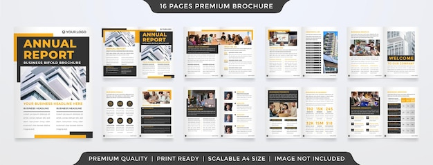 Clean presentation template design with minimalist and modern style Premium Vector
