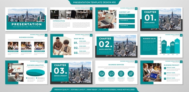 Clean presentation template premium style