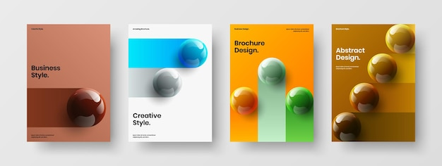 Пакет концепции дизайна вектор чистой презентации