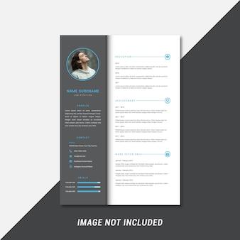 Clean and professional curriculum vitae template design