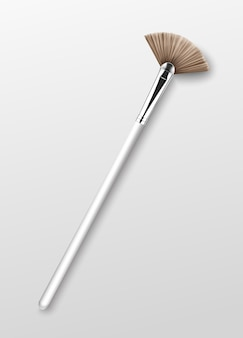 Clean professional makeup highlighter brush