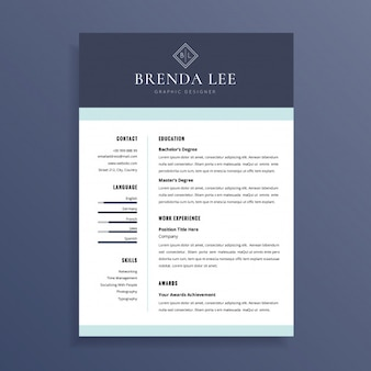 Clean professional resume cv template design