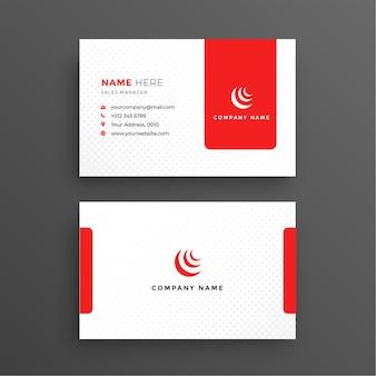 Чистая красная корпоративная визитка бесплатные векторы