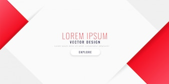Clean red web template banner in minimal style