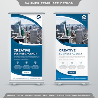 Clean roll up banner template