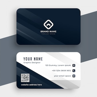Clean simple business card template modern