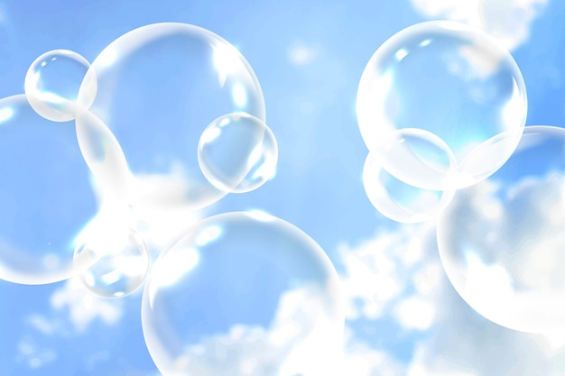 Clean soap bubbles