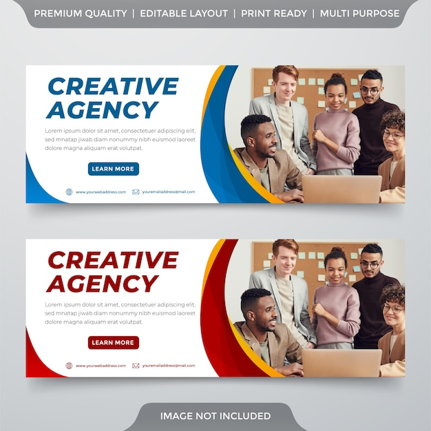 Clean style business banner template